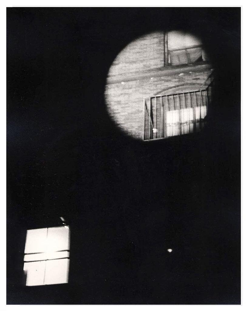 """Watch Out"", collaboration with      Gordon Matta-Clark, 1975"