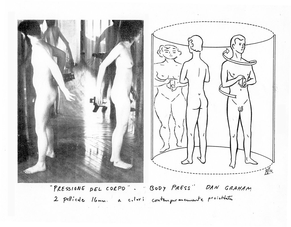 "Dan Graham,  ""Body Press"", 1972, Dan Graham & Susan Ensley"